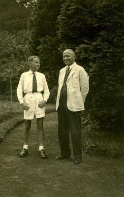 Pastor Neumüller, Beverungen, mit seinem Neffen