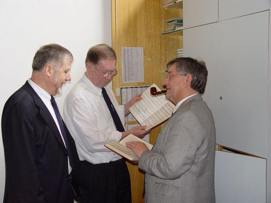 """Die """"Granden"""" Werner Filmer, Rolf Brinkmeier und Wolfgang Thies"""