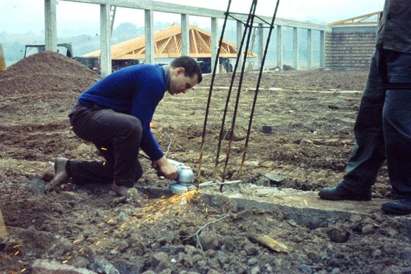 Hans-Jürgen Lotz bei der Arbeit