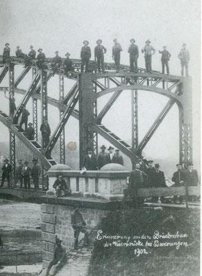 Bau der ersten Weserbrücke