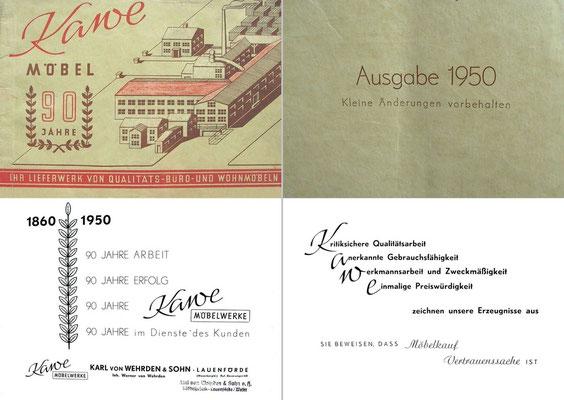 Katalog der Firma Karl von Wehrden und Sohn aus dem Jahr 1950.