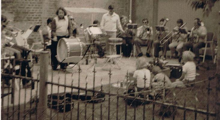 Übungsabend bei Rudi Harms Mitte der 1970er Jahre