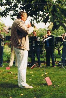 1987 Bläser: Werner Filmer, Herbert Gretschel, Hans Ulrich Funk, Dirigent Hans Theile
