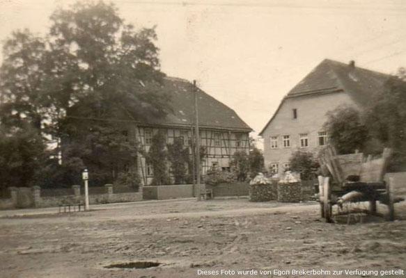 Blick auf das alte Pfarrhaus