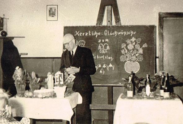 63 Geburtstag, Lehrer Gebhard