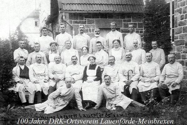 Lazarett 1915 im Gemeindehaus. Foto: Archiv Lauenförder Blätter