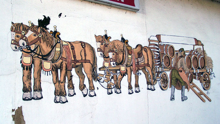 """""""Gemäde"""" am Pferdestall von ???"""