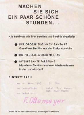 """Filmvorführung im """"Hotel zur Weser"""""""