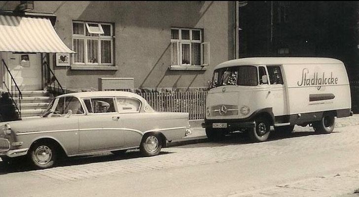 Typ: ?Opel Rekord P2 / Mercedes L 319  Eigentümer: Kaufmann Henke
