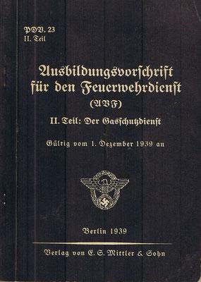 Ausbildungsvorschrift 1939