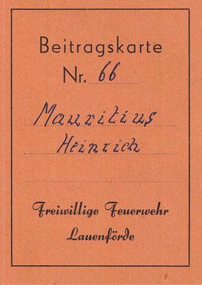 Beitragskarte 1956 - 1958