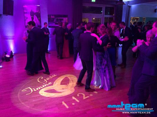 Hochzeit Tanzschule Beer mit individualisiertem Logo