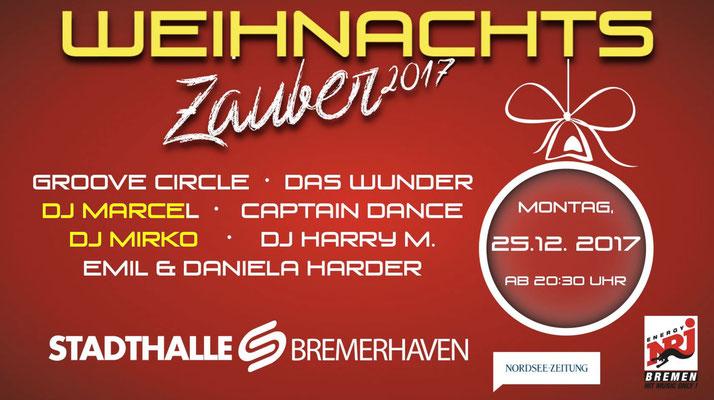 Weihnachtszauber Stadthalle Bremerhaven mit 5.000 Gästen und unseren DJs Marcel und Mirko