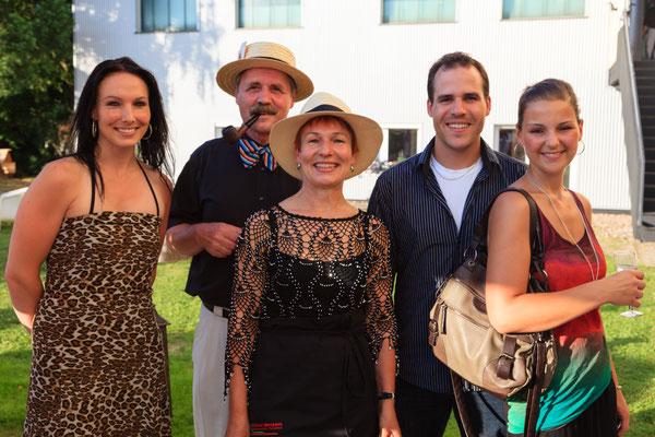 Angela Grether mit Familie.