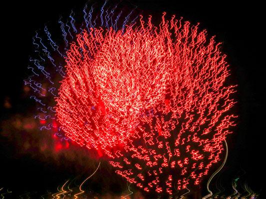 Ein fullminates Feuerwerk.