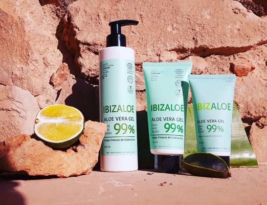 Frisches 99% Aloe Vera Gel für Gesicht & Körper (3 Größen)