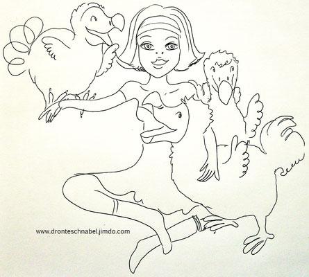Mama Dodo und ihre drei Lieblinge