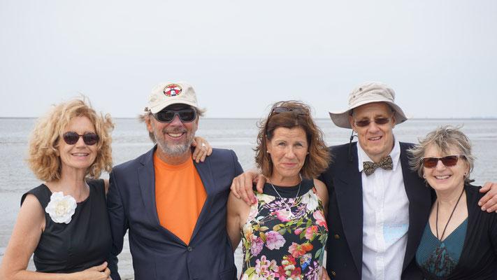 Tina, Achim, Britta, Jens K. und Marie