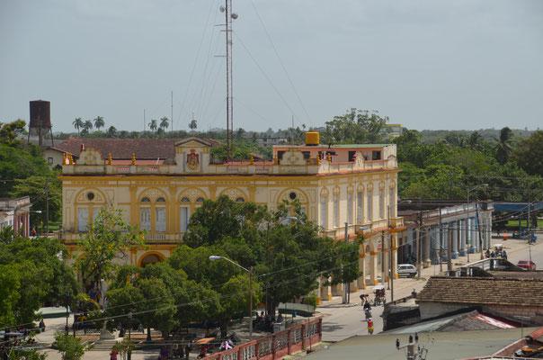 Blick aus dem Museum der Stadt.
