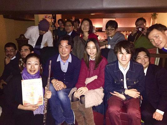 BAR渡邊崇イベントで、渡邊さん作曲の「Life」を演奏して、コンサートの宣伝もさせていただきました。
