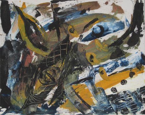 Farbkomposition, 2019, Acryl auf Leinwand, 40 x 50 cm