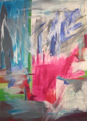Purpurrot, 2012, Acryl auf Leinwand, 90 x 120 cm