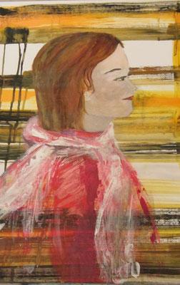 Spaziergang, 2013, Acryl auf Papier, 50 x 70 cm