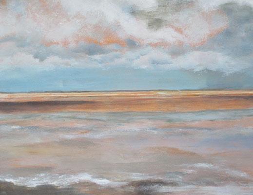 Unendliche Weite, 2017, Acryl auf Papier, 48 x 34 cm