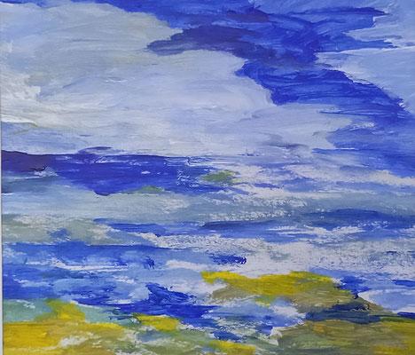 Am Meer, 2020, Aquarell auf Papier, 38 X 39,5 cm