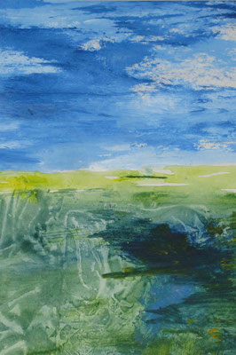 Ebbe, 2018, Acryl auf Papier,43 x 64 cm