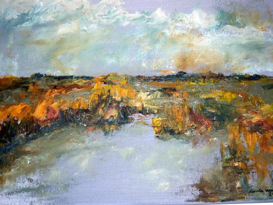 Priel, 2016, Öl auf Leinwand, 30 x 40 cm