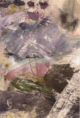Rot in Grau, 2014, Acryl auf Papier, 32 x 46 cm