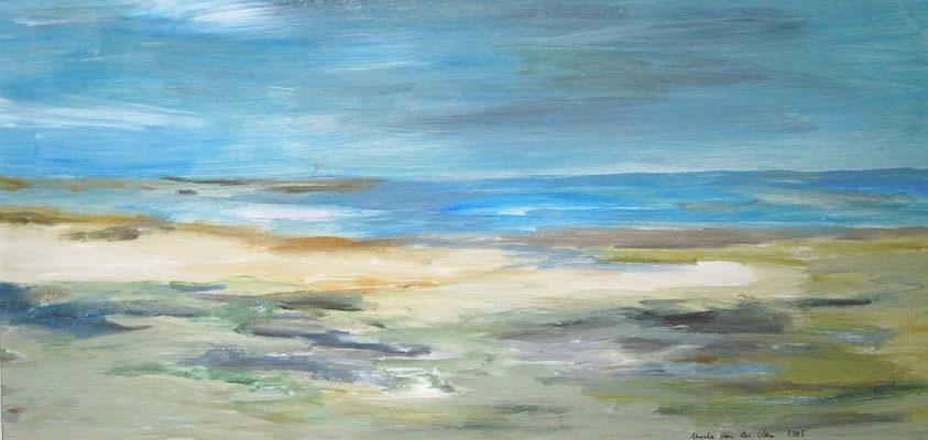 Ein Sommertag am Meer, 2005, Acryl auf Hartfaserplatte, 60 x 30 cm