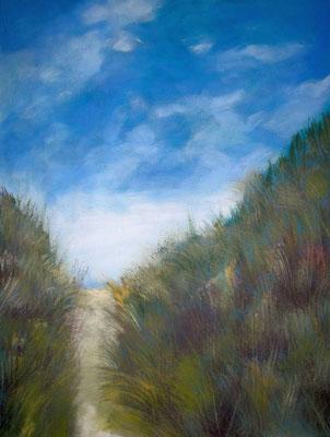 Weg durch die Dünen, 2017, Acryl auf Leinwand, 80 x 60 cm