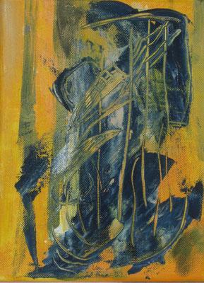 """Grünzeug"", 2018, Acryl auf Leinwand, 24 x 18 cm"