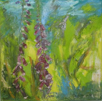 Fingerhut, 2009, Öl auf Leinwand, 40 x 40 cm