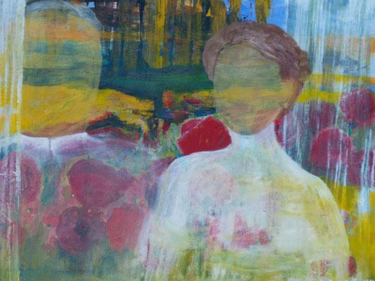 Altes Foto von 1907, 2012, Öl auf Leinwand, 70 x 50 cm