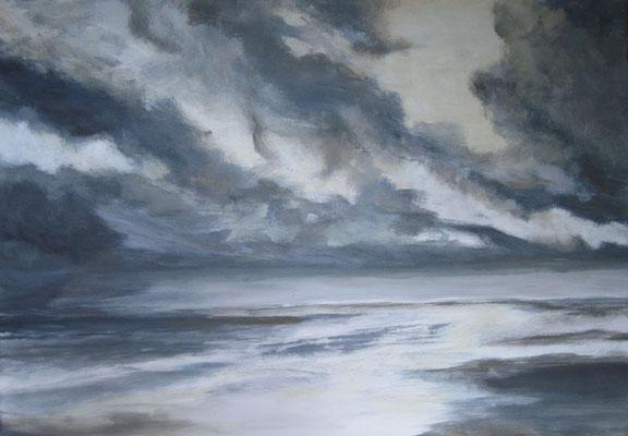 Ziehende Wolken, 2017, Acryl auf Leinwand, 50 x 70 cm