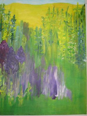 Rittersporn, 2018, Acryl auf Leinwand, 70 x 50 cm