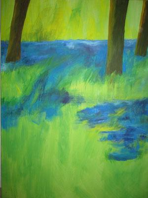 Bäume, 2018, Acryl auf Leinwand, 120 x 90 cm