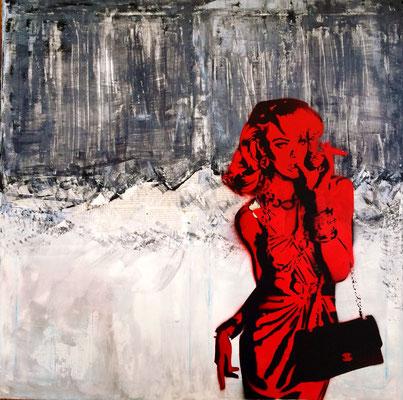 candice 333/red, 70x70 cm
