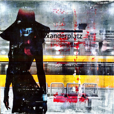 alex gelb I mixed media, collage, 30x30 cm