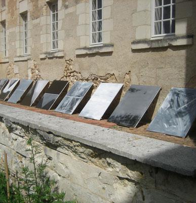 Installation de François-Xavier ALEXANDRE dans la Cour Carrée de l'Hôtel-Dieu de Baugé (2012)