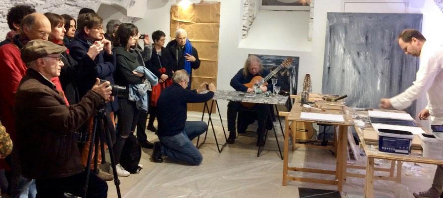 François-Xavier ALEXANDRE et Hachiro KANNO, Event de connexions peinture-musique