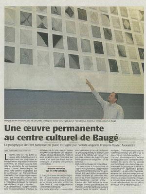 Sélection presse concernant le travail artistique de François-Xavier ALEXANDRE