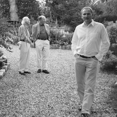 Préparation de la grande exposition monographique Josep GRAU-GARRIGA à l'abbaye de St-Florent-le-Vieil (2009), maison-atelier de l'artiste à St-Mathurin/Loire (avec Hervé DE CHARETTE).