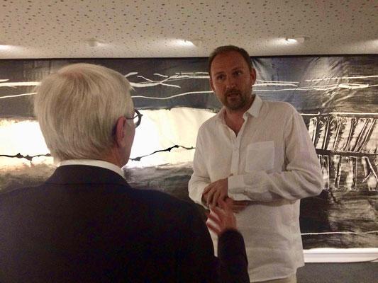 Alain FOUQUET, Maire-Adjoint à la Culture et au Patrimoine de la Ville d'Angers, François-Xavier ALEXANDRE