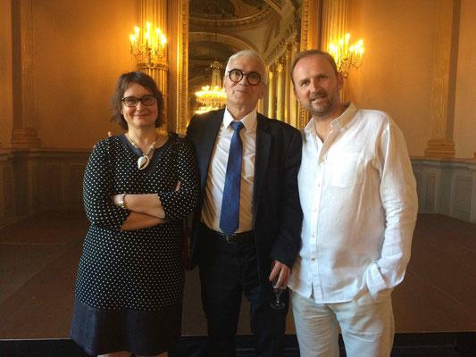 Anne MOULY, directrice du Grand Théâtre d'Angers, Alain FOUQUET, Maire-Adjoint à la Culture et au Patrimoine de la Ville d'Angers, François-Xavier ALEXANDRE