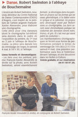 Le Courrier de l'Ouest du 26 avril 2013