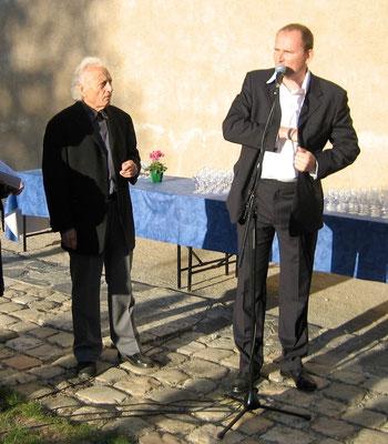 Josep GRAU-GARRIGA et François-Xavier ALEXANDRE à l'abbaye de St-Florent-le-Vieil en 2009